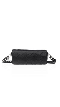 Mini Duffle Bag- Black Debossed