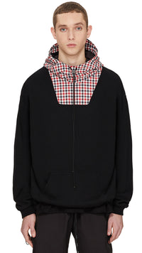Technical Hoodie - Black/Red Check