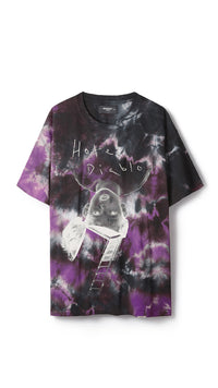 Represent x MGK Album Cover T-Shirt - Purple Tie Dye