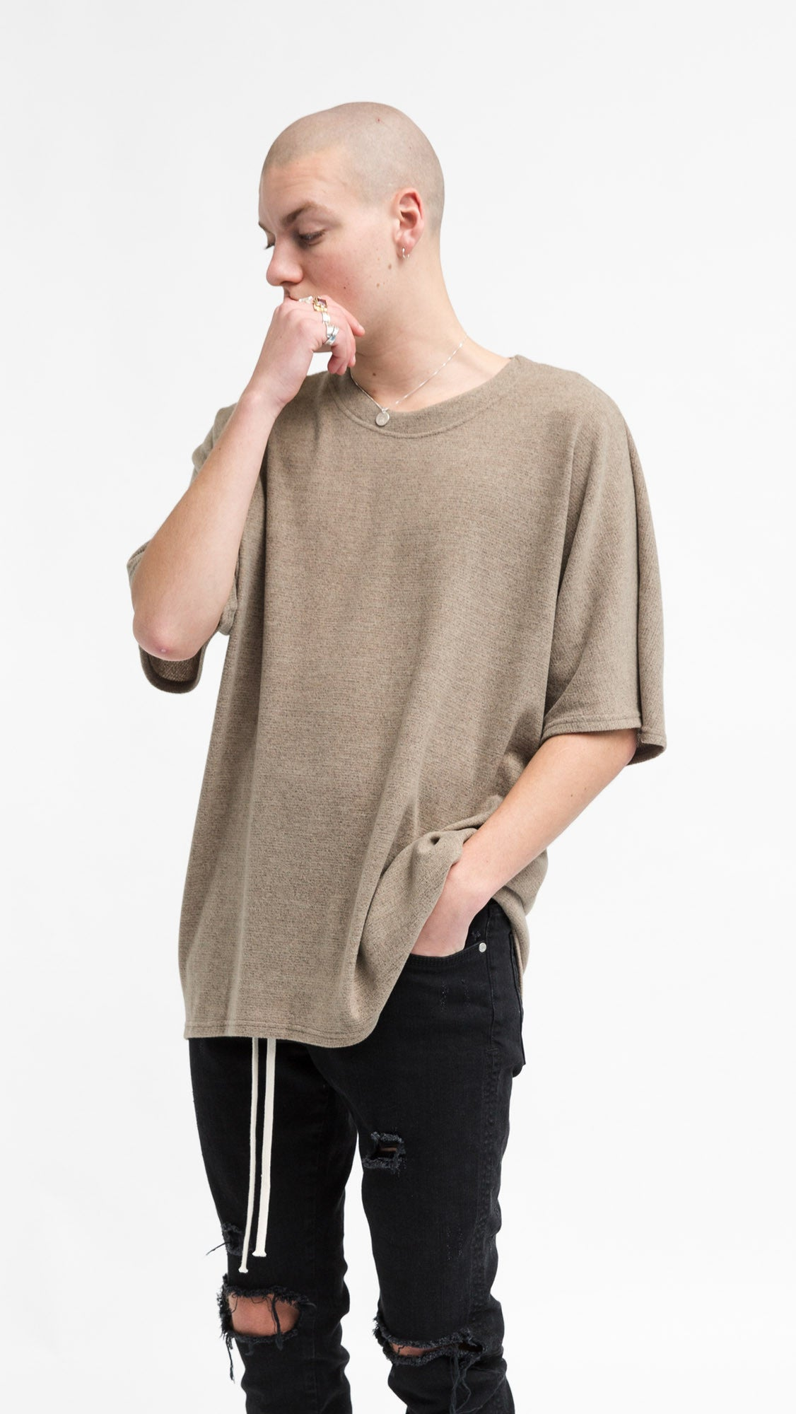 Scallop T-shirt - Brown