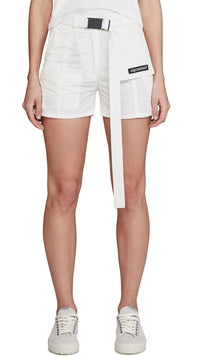 Women's Technical Military Shorts - White