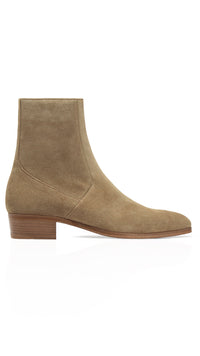 Zip Chelsea Boot - Taupe