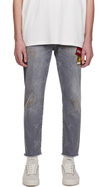 Patch Relaxed Denim - Grey
