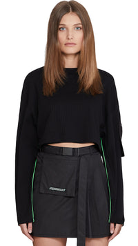 Women's Ribbed Cropped Sweater