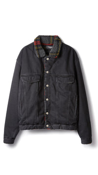 Sherpa Denim Jacket - Vintage Black