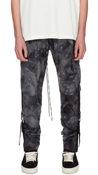 Buckle Track Pants - Black Tie Dye