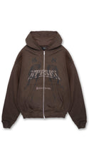 British Thunder Zip Hoodie - Vintage Brown