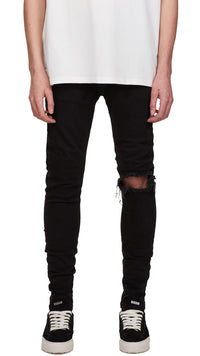 Blown Knee Denim - Black