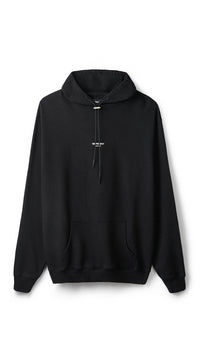 Regular Fit Logo Hoodie - Jet Black