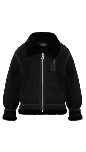 Shearling Jacket -  All Black
