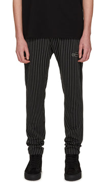 Smoking Pants - Black Pinstripe