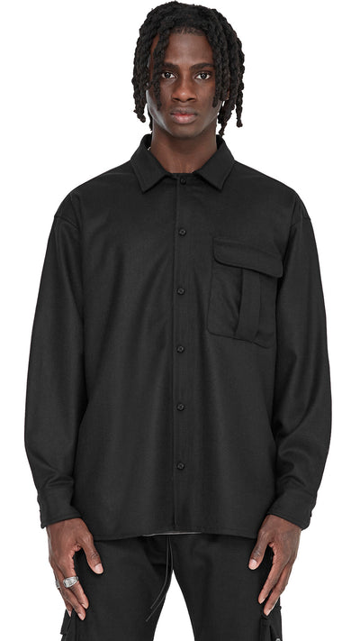 Wool Overshirt - Black