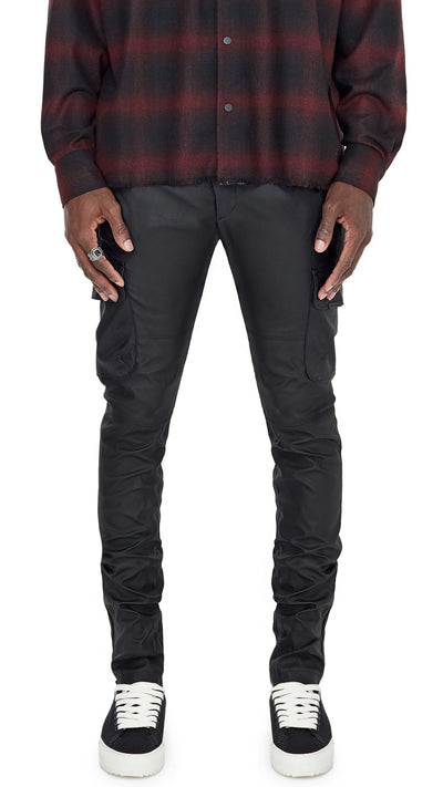 Leather Military Pant - Black