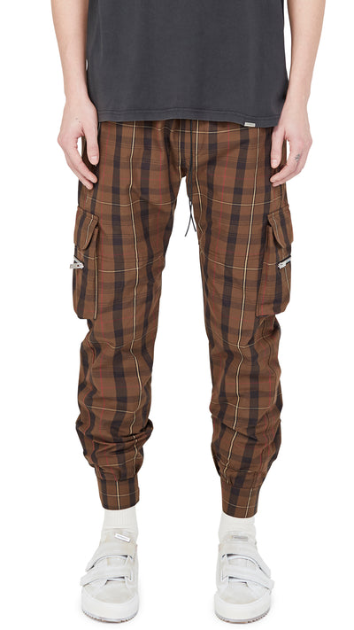 Military Pant - Brown Tartan Check