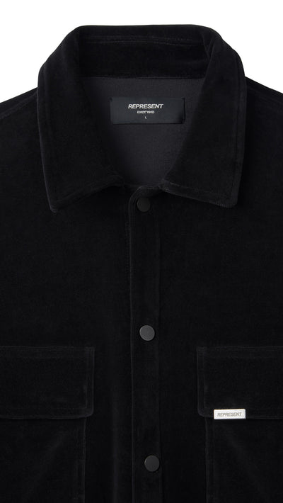 Velour Shirt - Black
