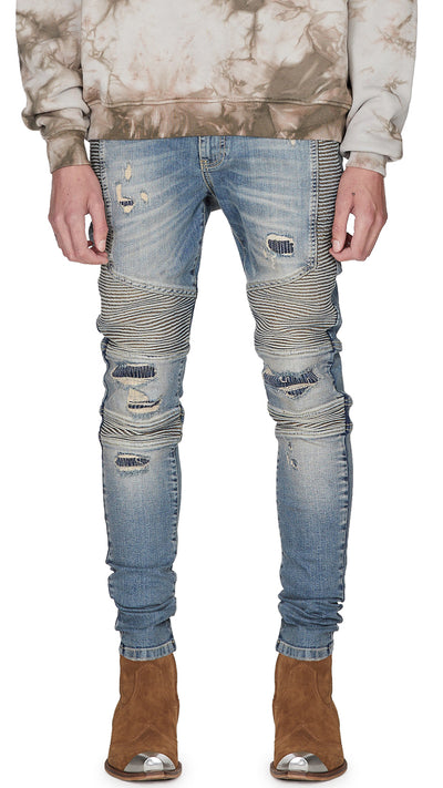 Biker Denim - Sand Blue
