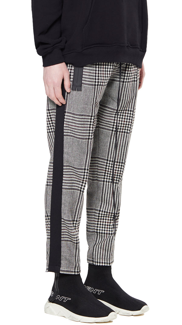 Straight Leg Pants - Glen Plaid