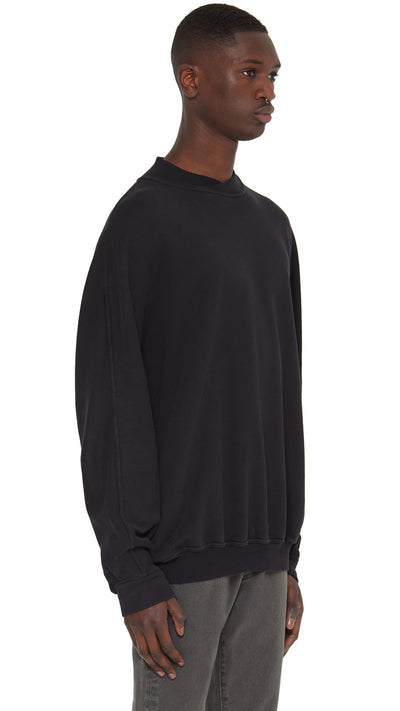Cross Neck Sweater - Black