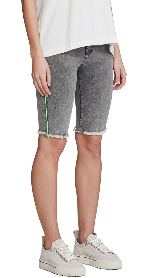 Women's Denim Riding Short - Acid Grey