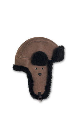 Trapper Hat - Brown/Black