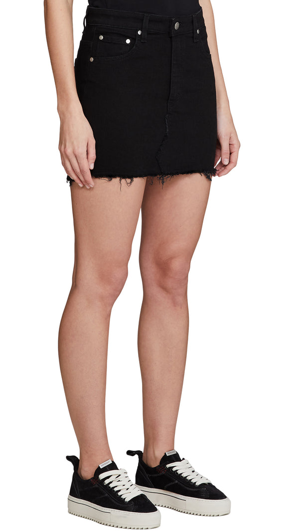 Women's Denim Skirt - Black