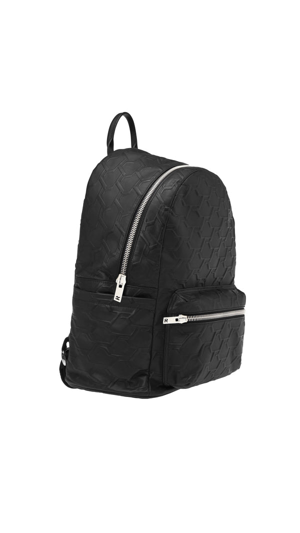 Monogram Backpack- Black Debossed