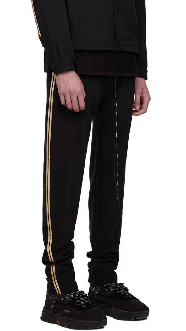 Relaxed Track Pants - Black/Gold