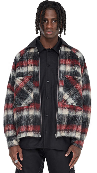 Mohair Work Shirt - Red Stripe