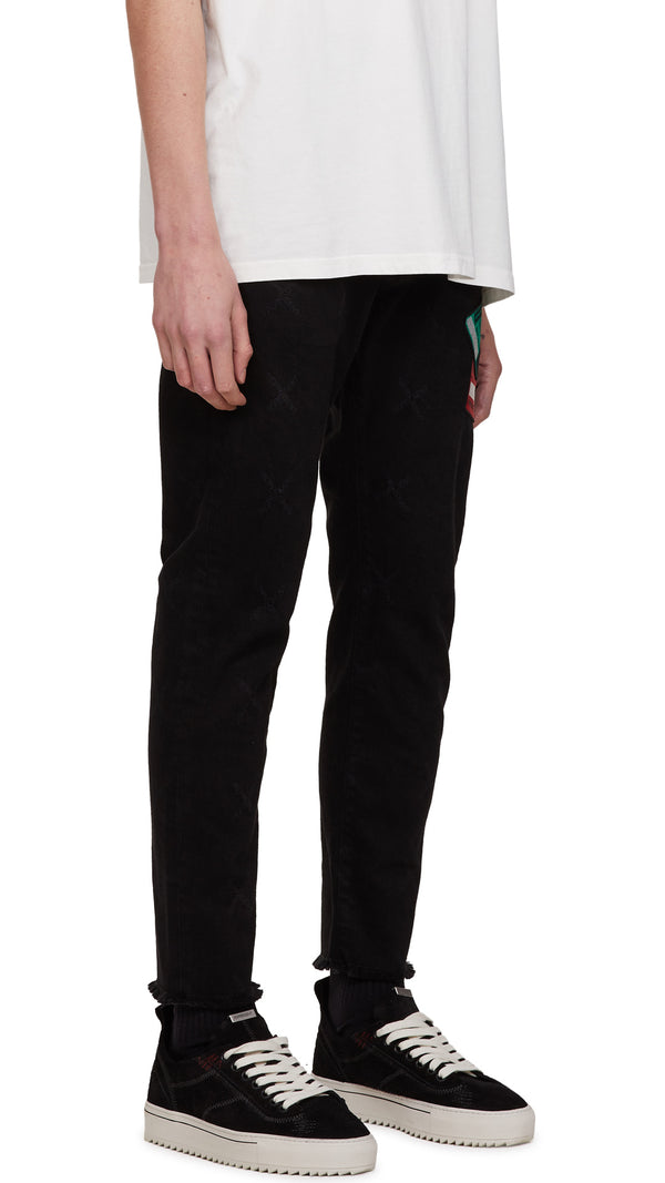 Patch Relaxed Denim - Black