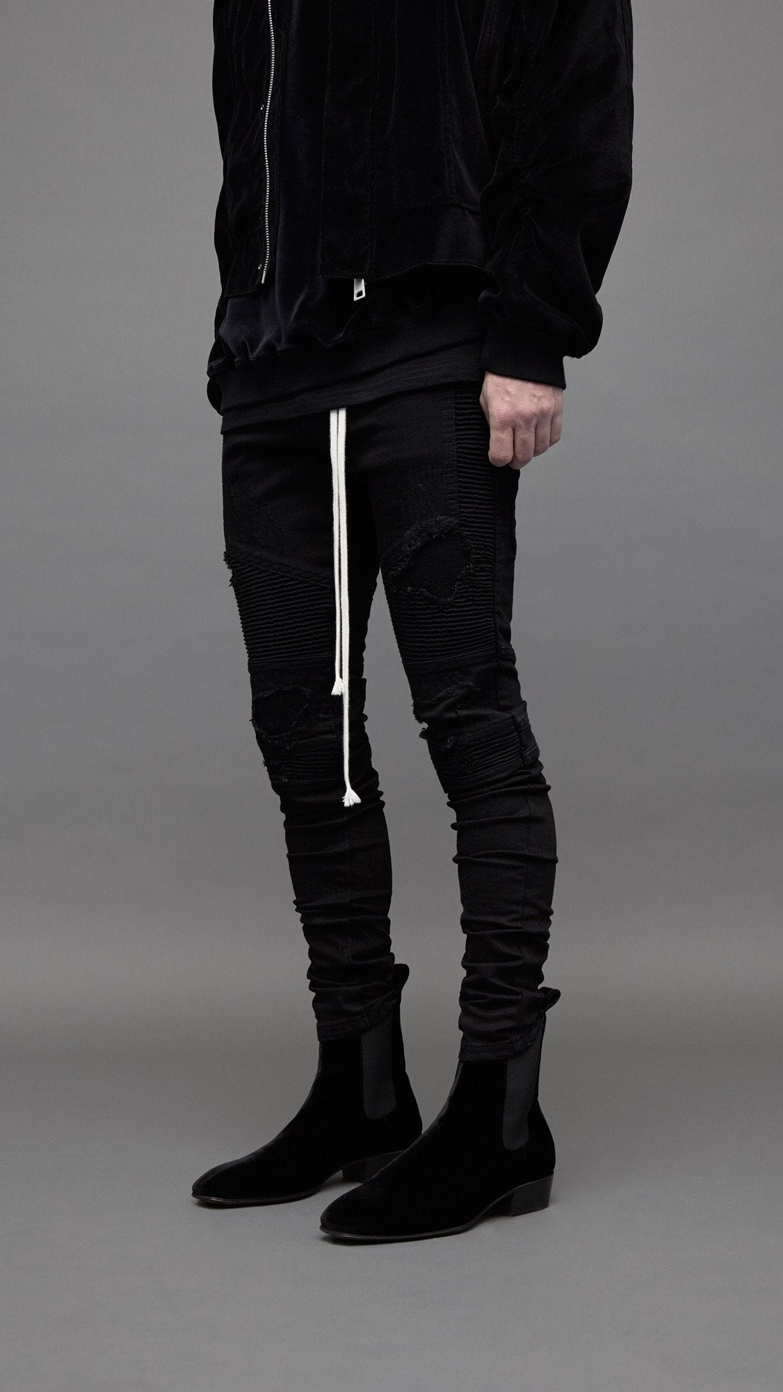 AW17 Biker Denim - Black