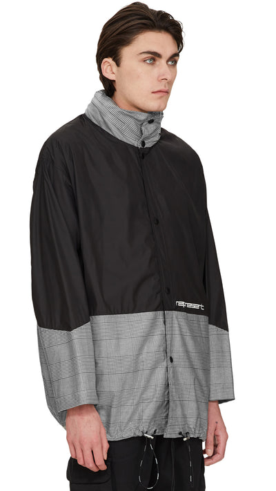 Rain Mac - Black/White Check