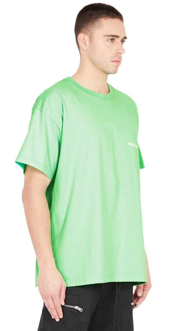 Signature T-shirt - Vintage Neon Green