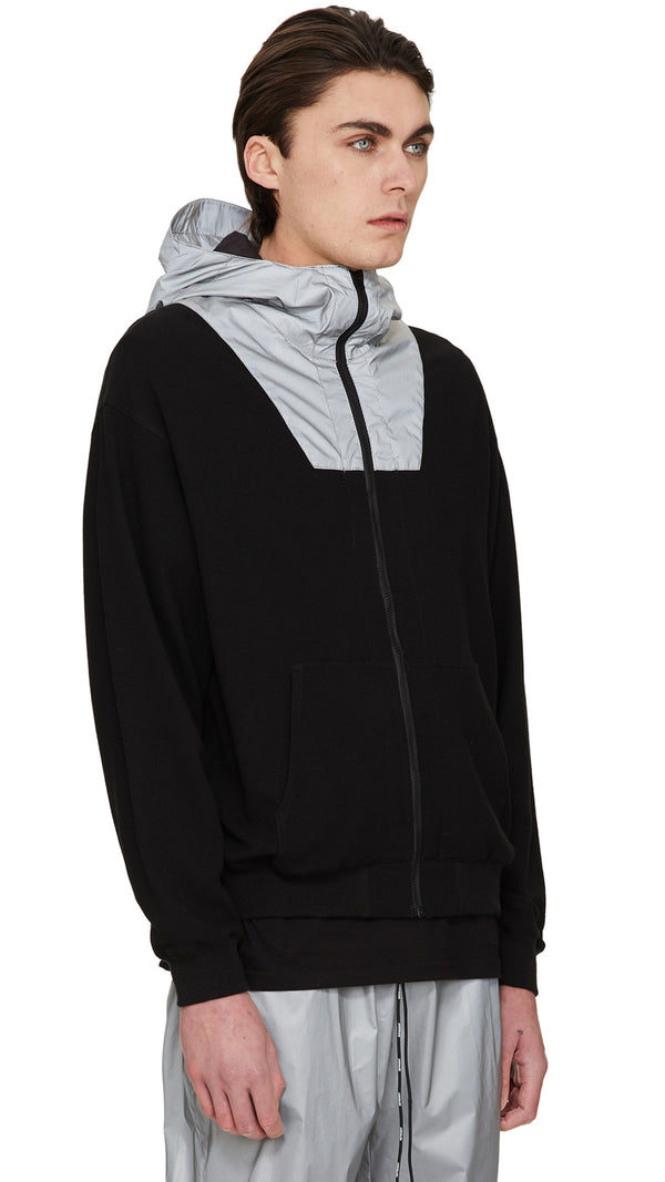 Technical Zip Hoodie - Black/3M