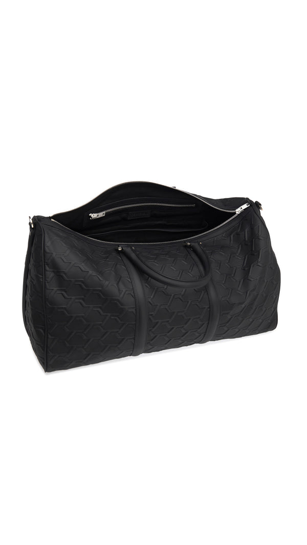 Monogram Duffle Bag- Black Debossed