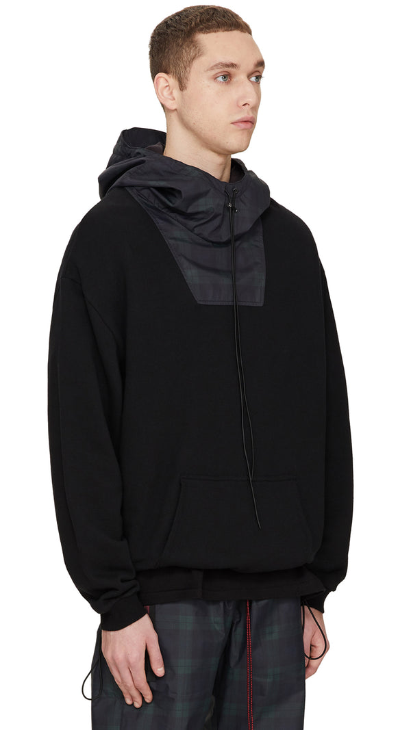 Technical Hoodie - Black/Dark Check
