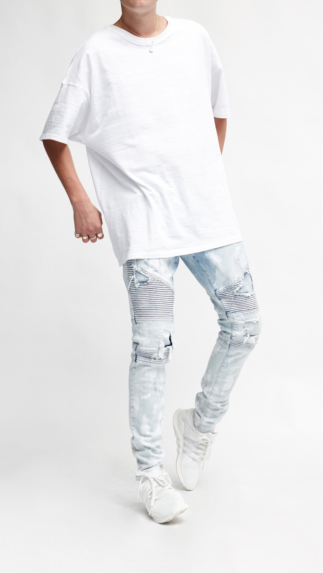 Biker Denim - Bleach Blue