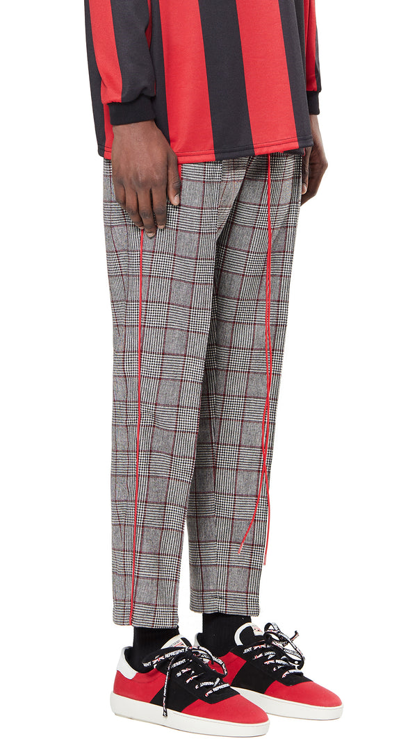 Straight Leg Pants - Small Check