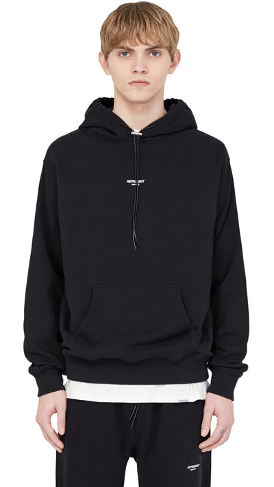 Regular Fit Logo Hoodie - Black