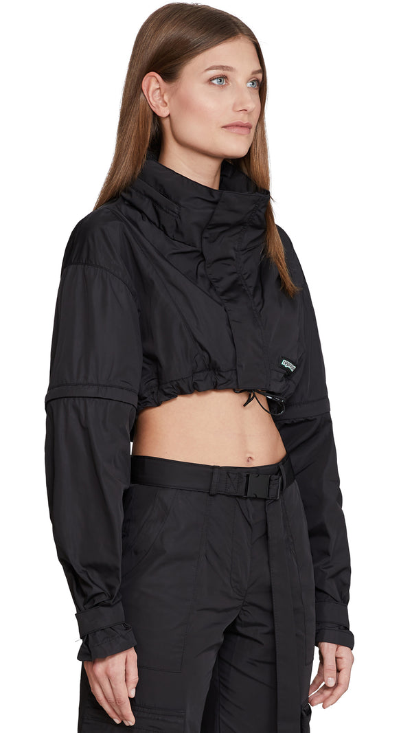 Women's Cropped Anorak - Black