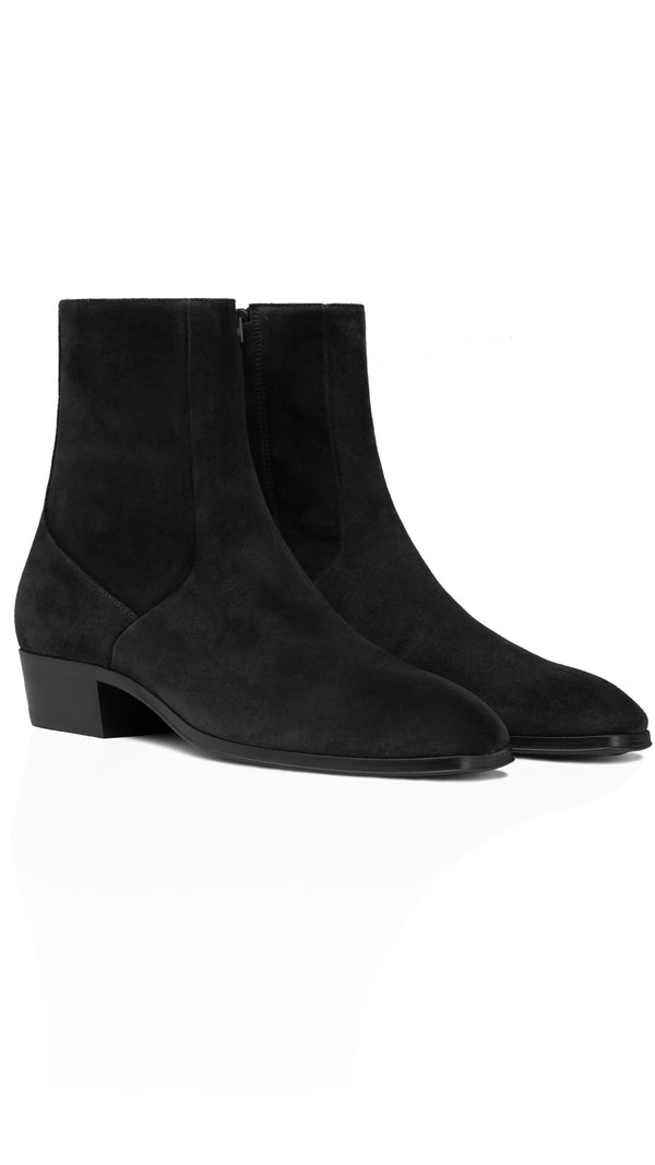 Zip Chelsea Boot - Black