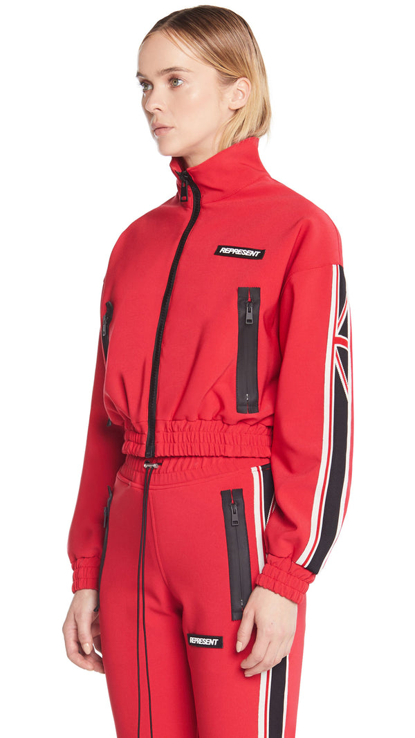 Women's Track Jacket - Red