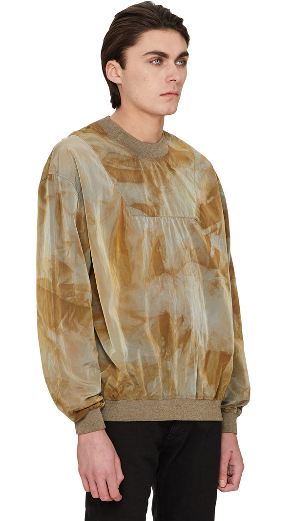 Technical Sweater - Tan Tie Dye