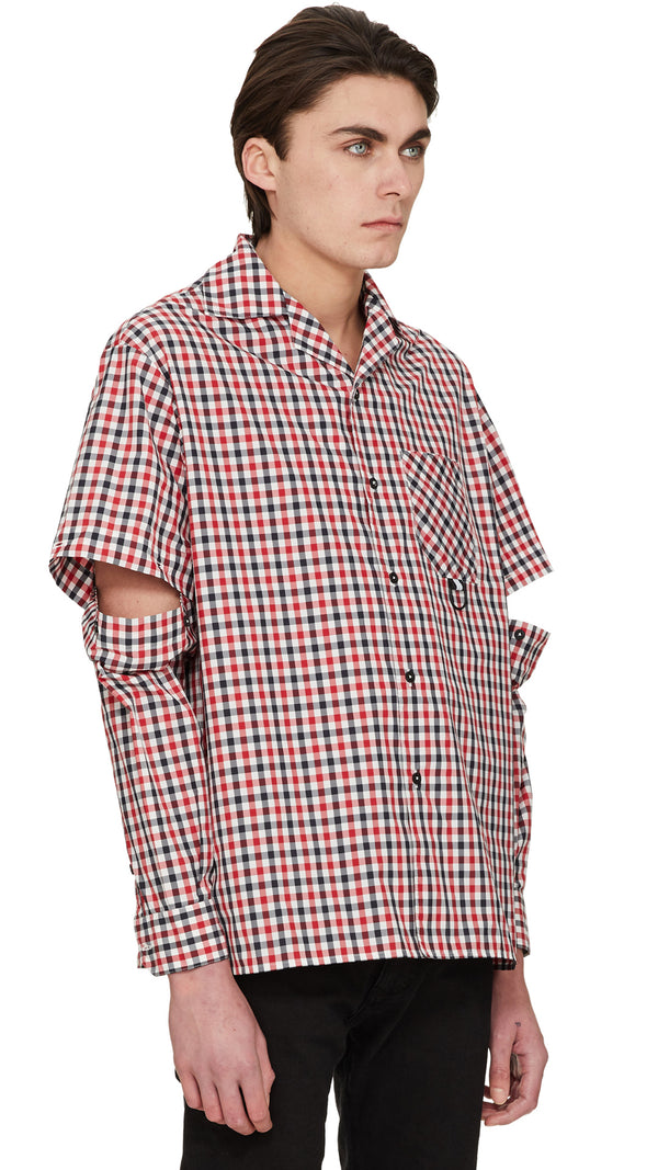 Tech Shirt - Red Check