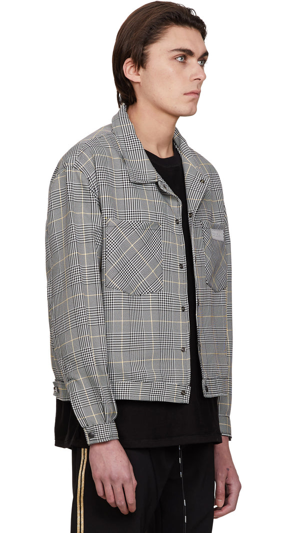 Lurex Jacket - Yellow Check