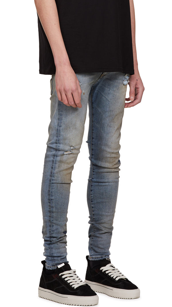 Distressed Denim - Work Blue