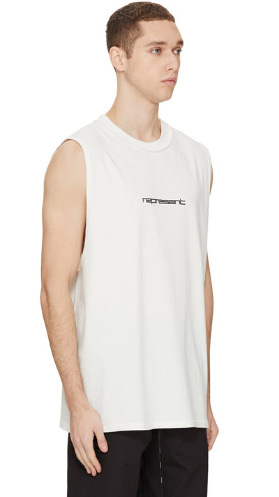 Tech Logo Vest - White