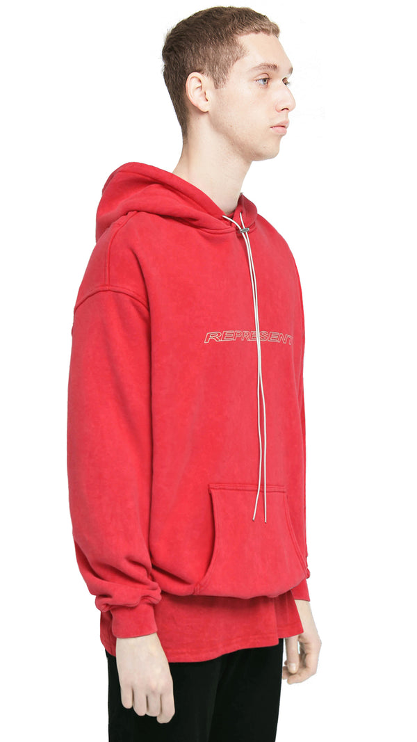 Racer Hoodie - Washed Red
