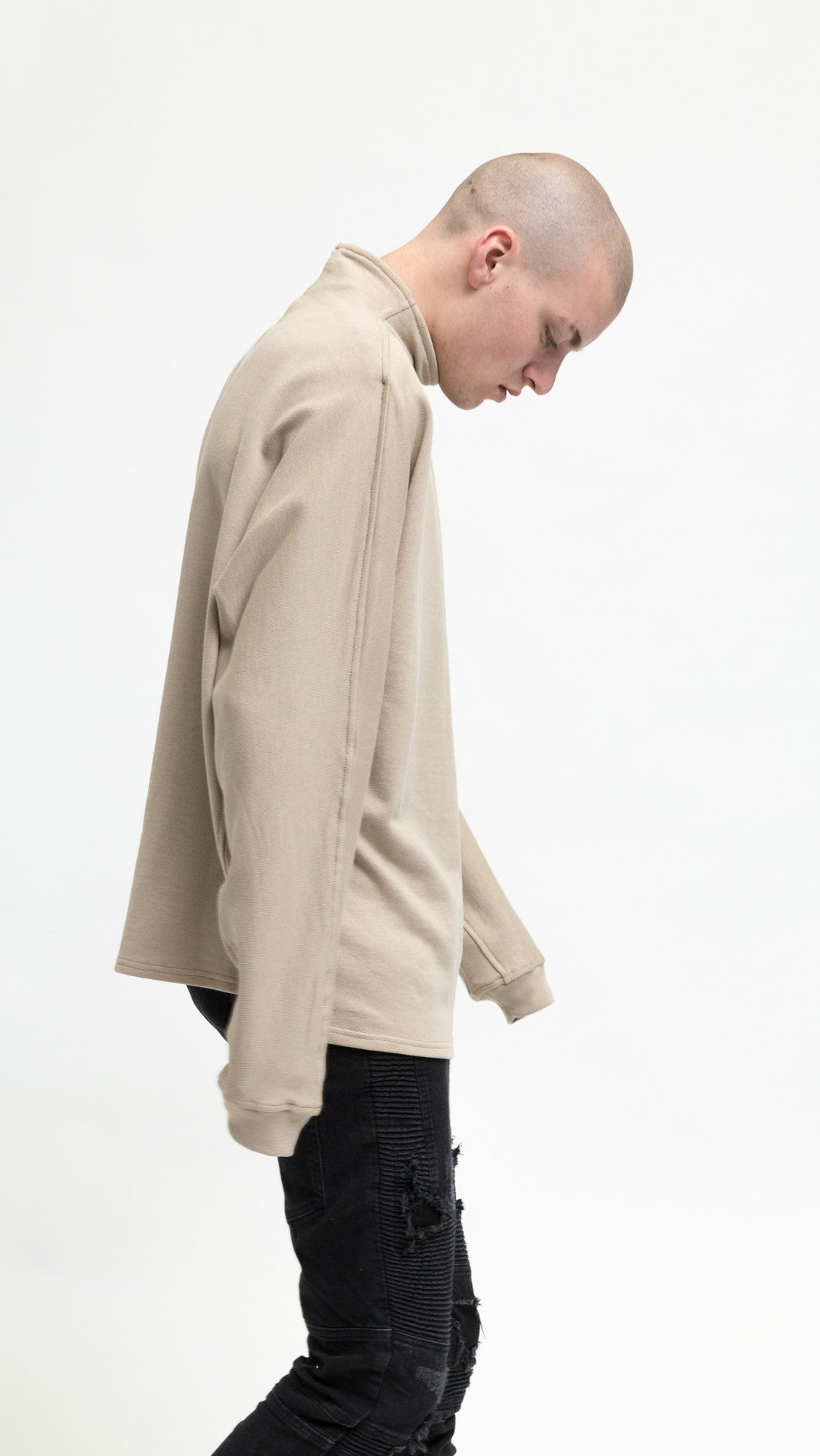 Mock Neck Sweater - Bone