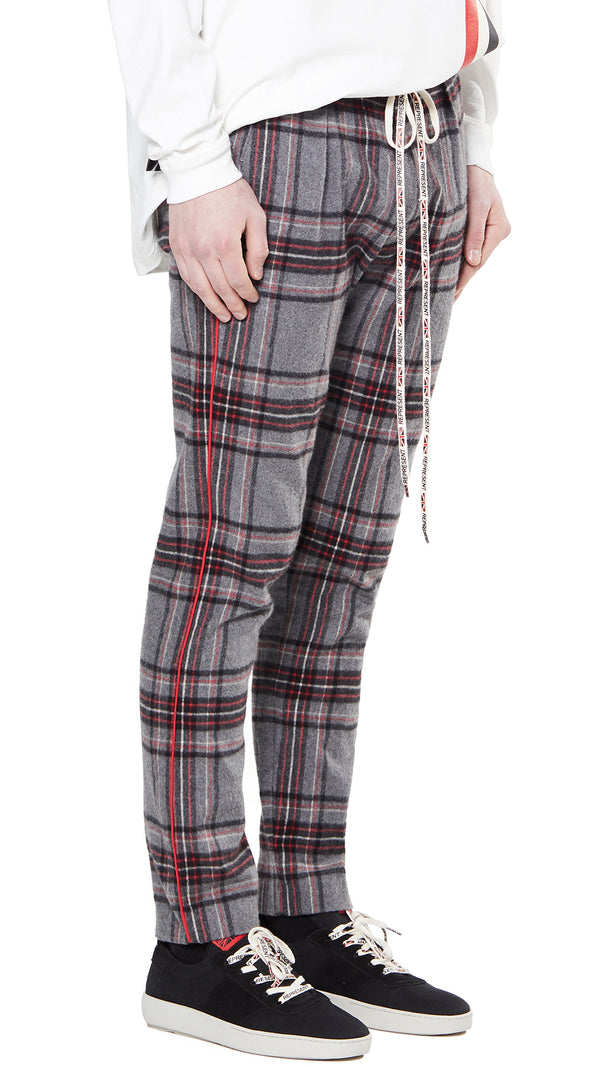Smoking Pants - Grey Tartan