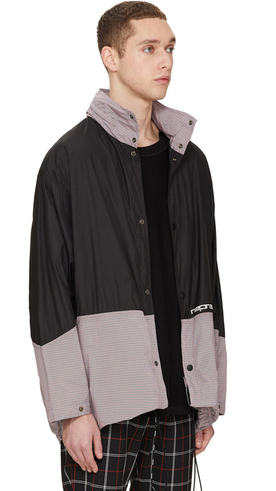 Rain Mac - Black/Red Check